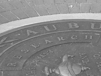 The Auburn Seal showing Research