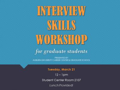 Interview Skills Workshop Flyer