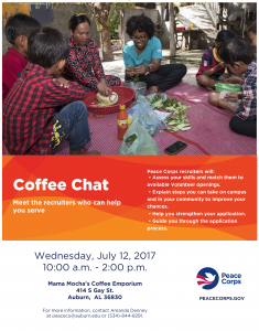 Peace Corps Coffee Chat flyer