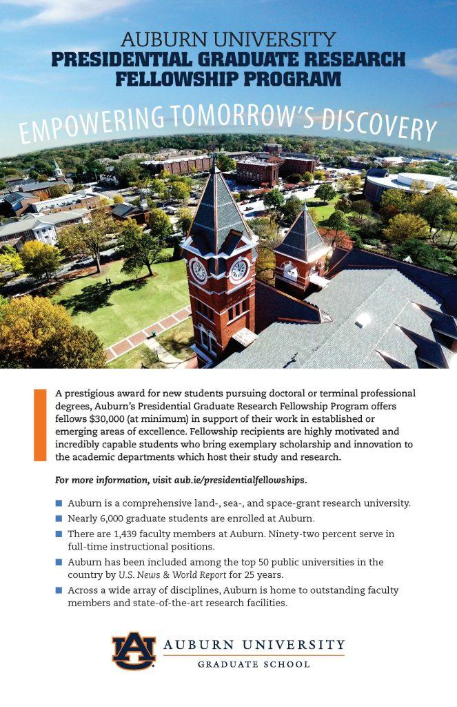 Presidential Fellowship Award Flyer